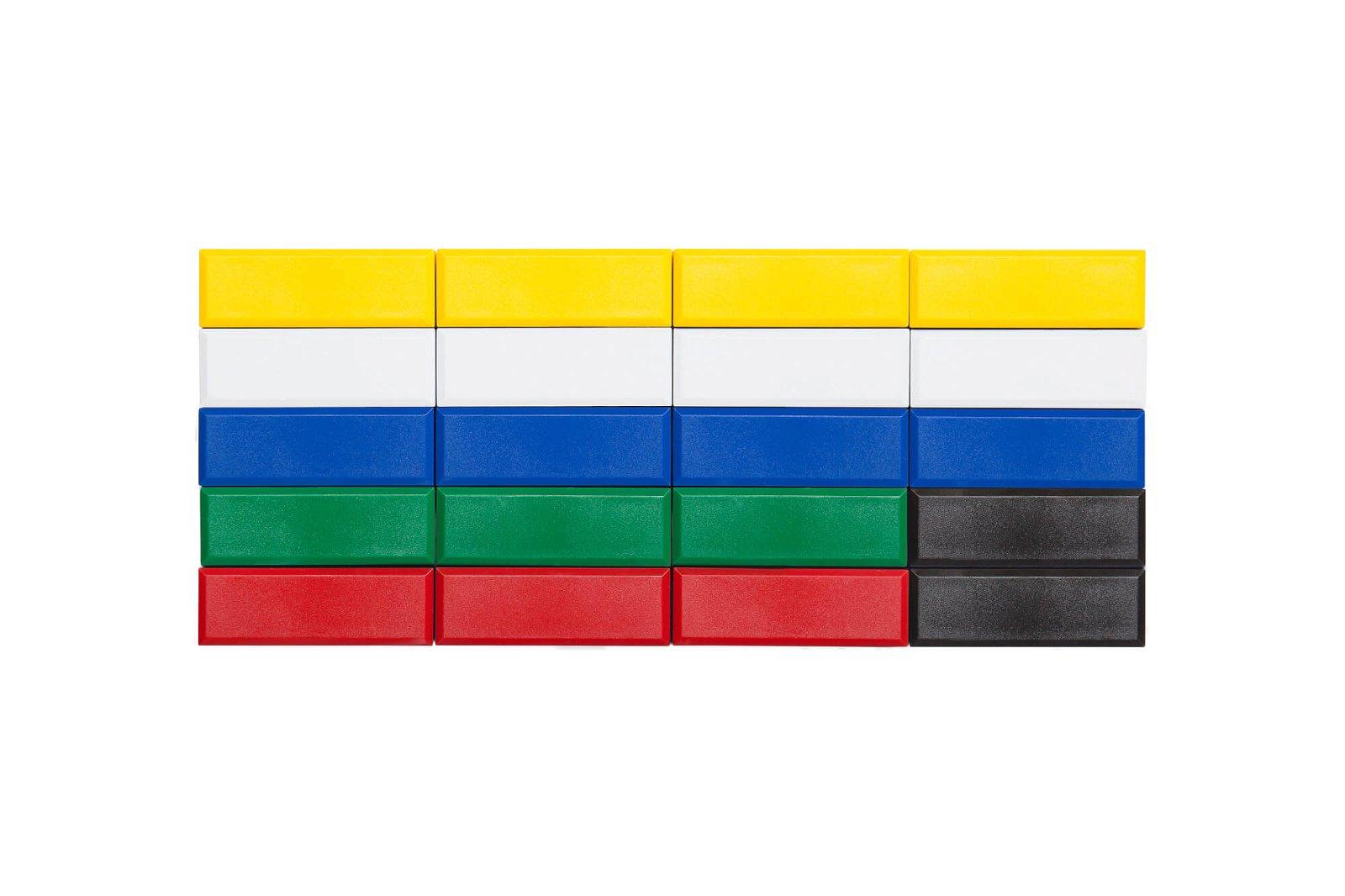 Facetterand-Magnet MAULpro 53 x 18 mm, 1 kg, 20 St./Set, farbig sortiert