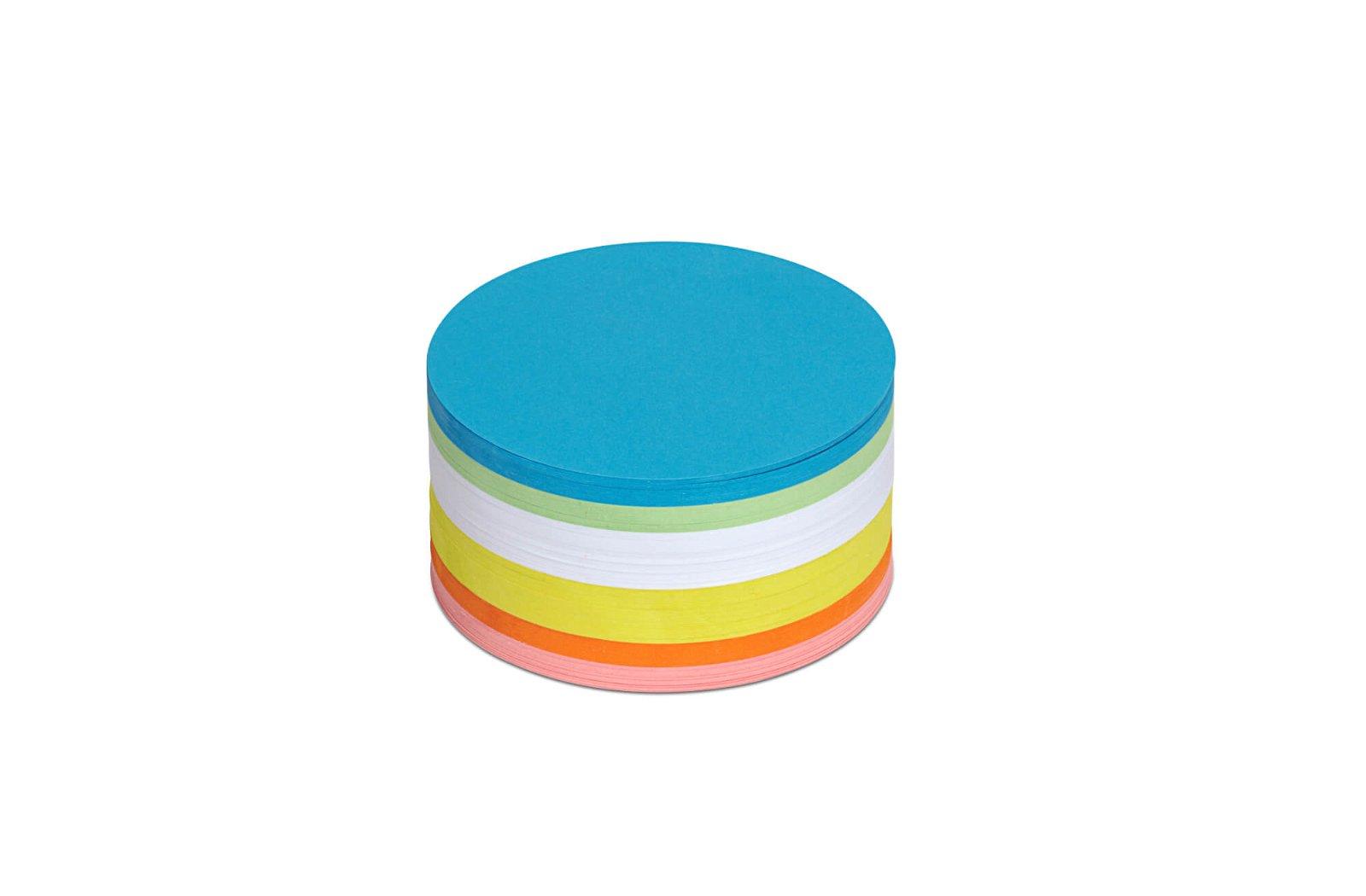 Moderationskarten rund, Ø 9,5 cm, 250 St./Pack, farbig sortiert