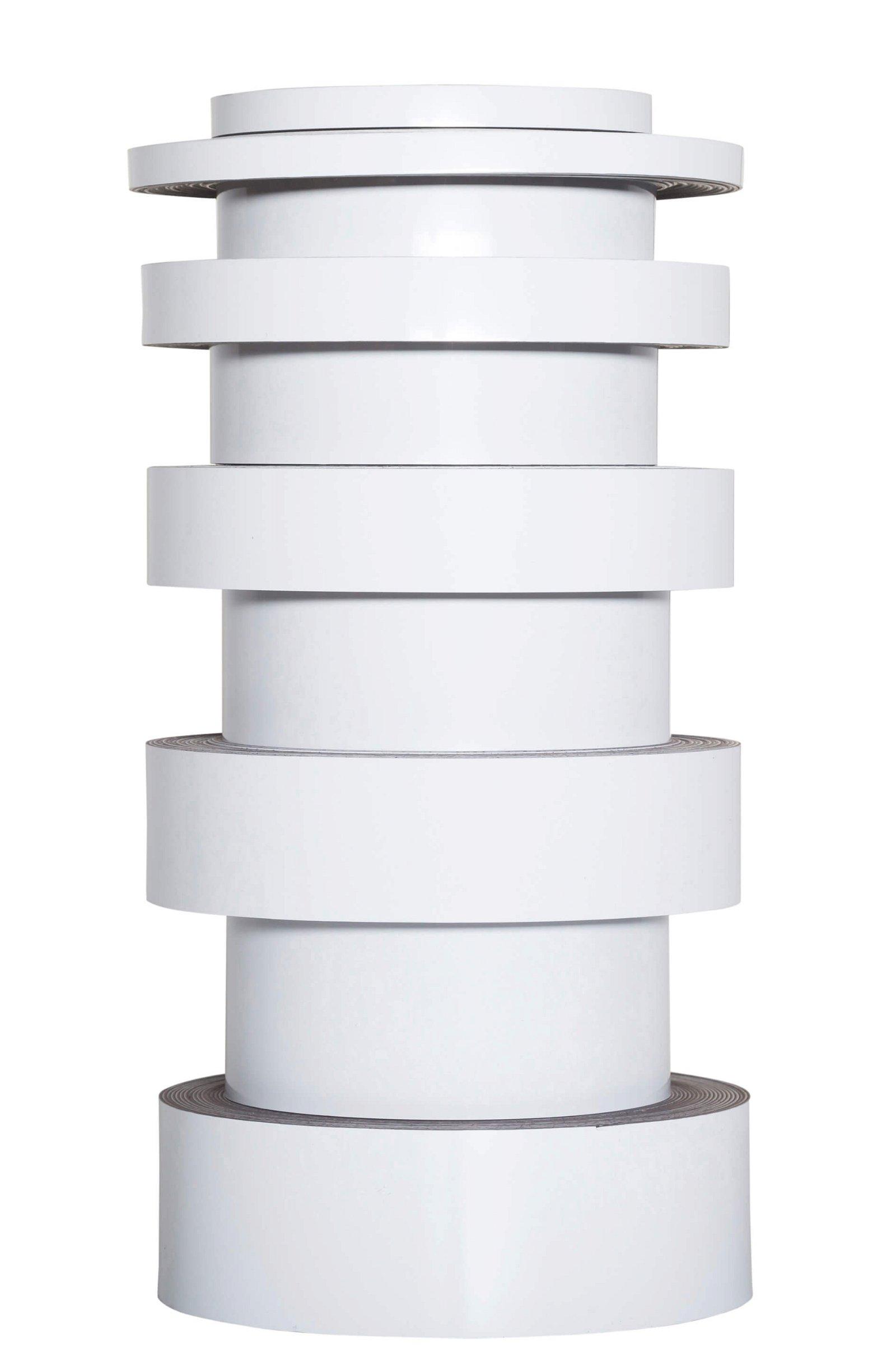 Kennzeichnungsband magnet- haftend, 10 m x 20 mm x 1 mm, weiß