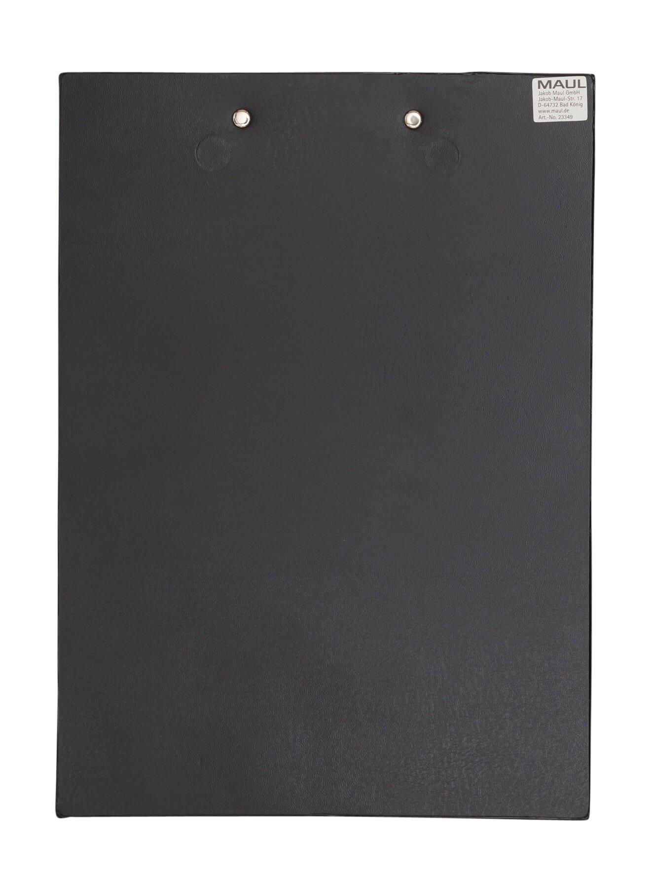 A4 Schreibplatte mit Folien- überzug und 2 Neodym-Magneten, schwarz