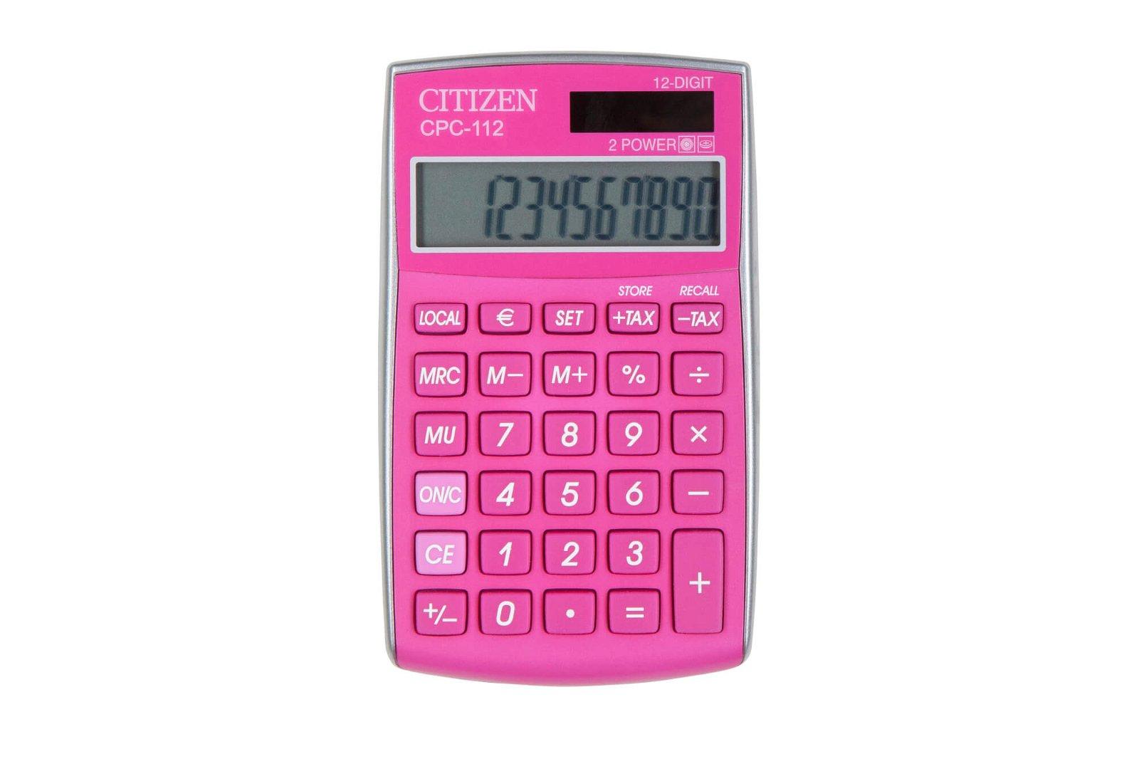 Taschenrechner CPC 112PKWB, pink