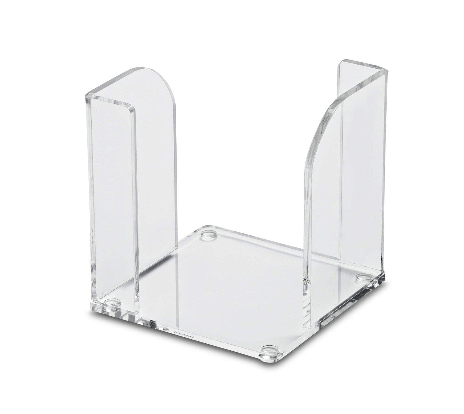 Acryl-Zettelbox 9 x 9 cm, ohne Zettel, glasklar