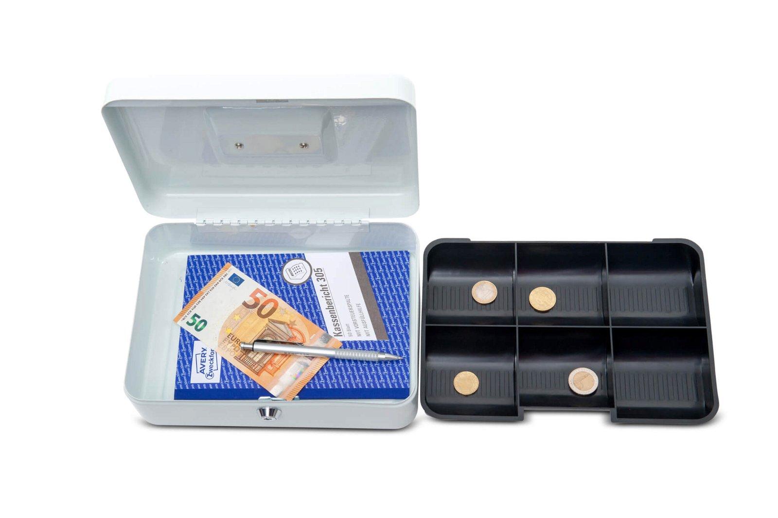 Geldkassette 3, 25 x 19,1 x 9 cm, weiß