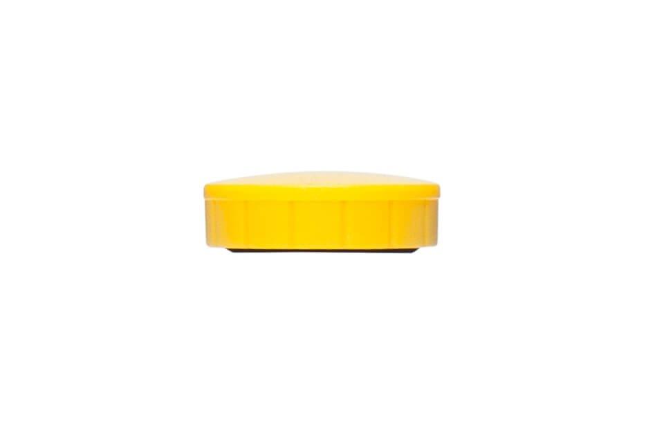 Magnet MAULsolid Ø 24 mm, 0,6 kg Haftkraft, 10 St./Ktn., gelb