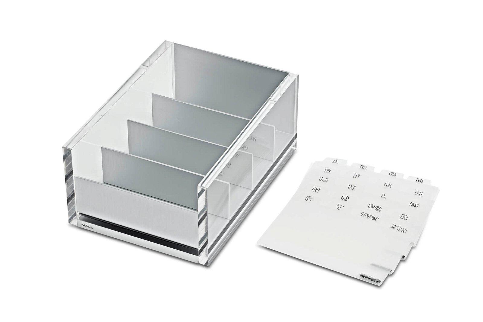 Acryl-Visitenkartenbox MAULacro, glasklar