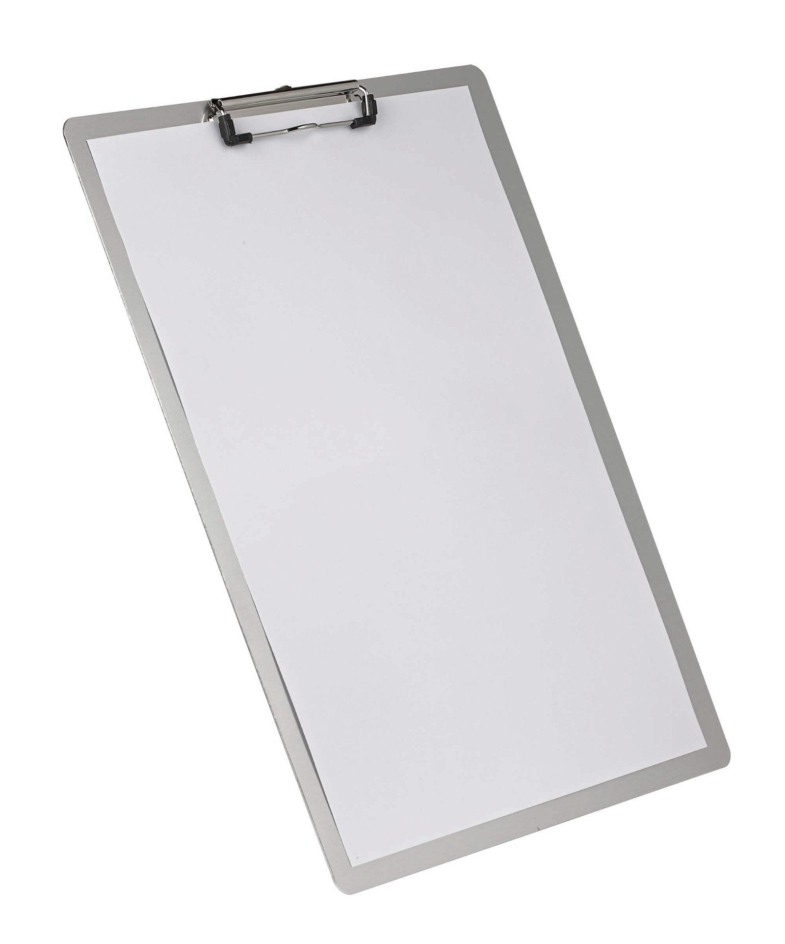 A3 Schreibplatte Aluminium mit Bügelklemme, aluminium