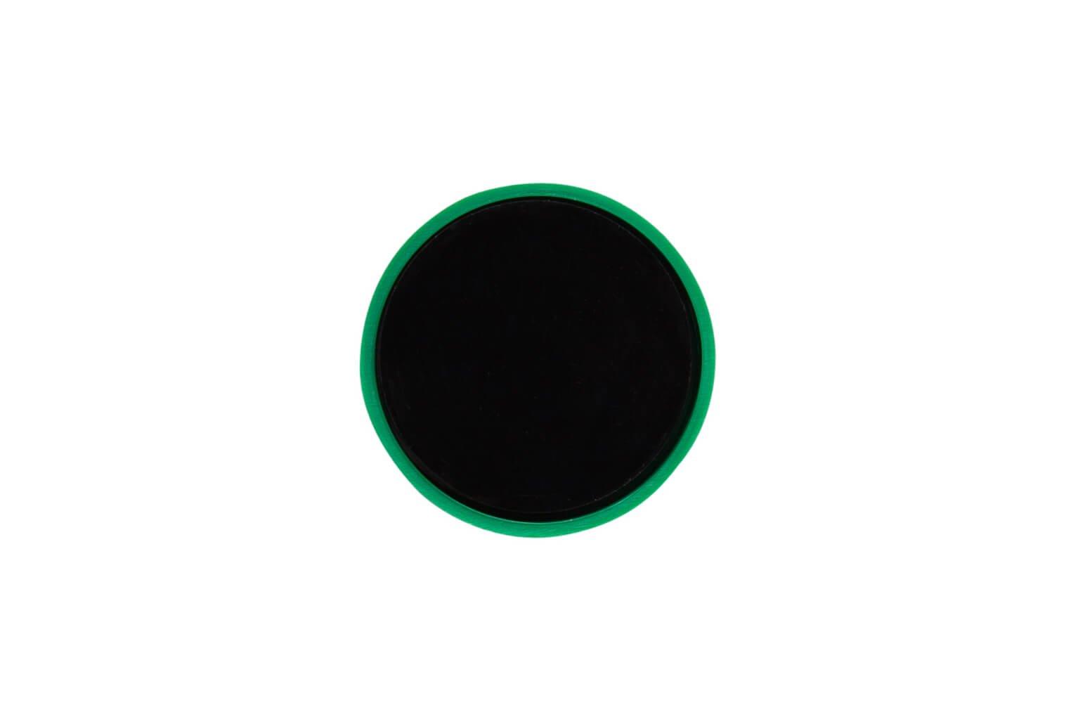 Rund-Magnet, PE Ø 30 mm, 0,6 kg Haftkraft, 10 St./Set, grün