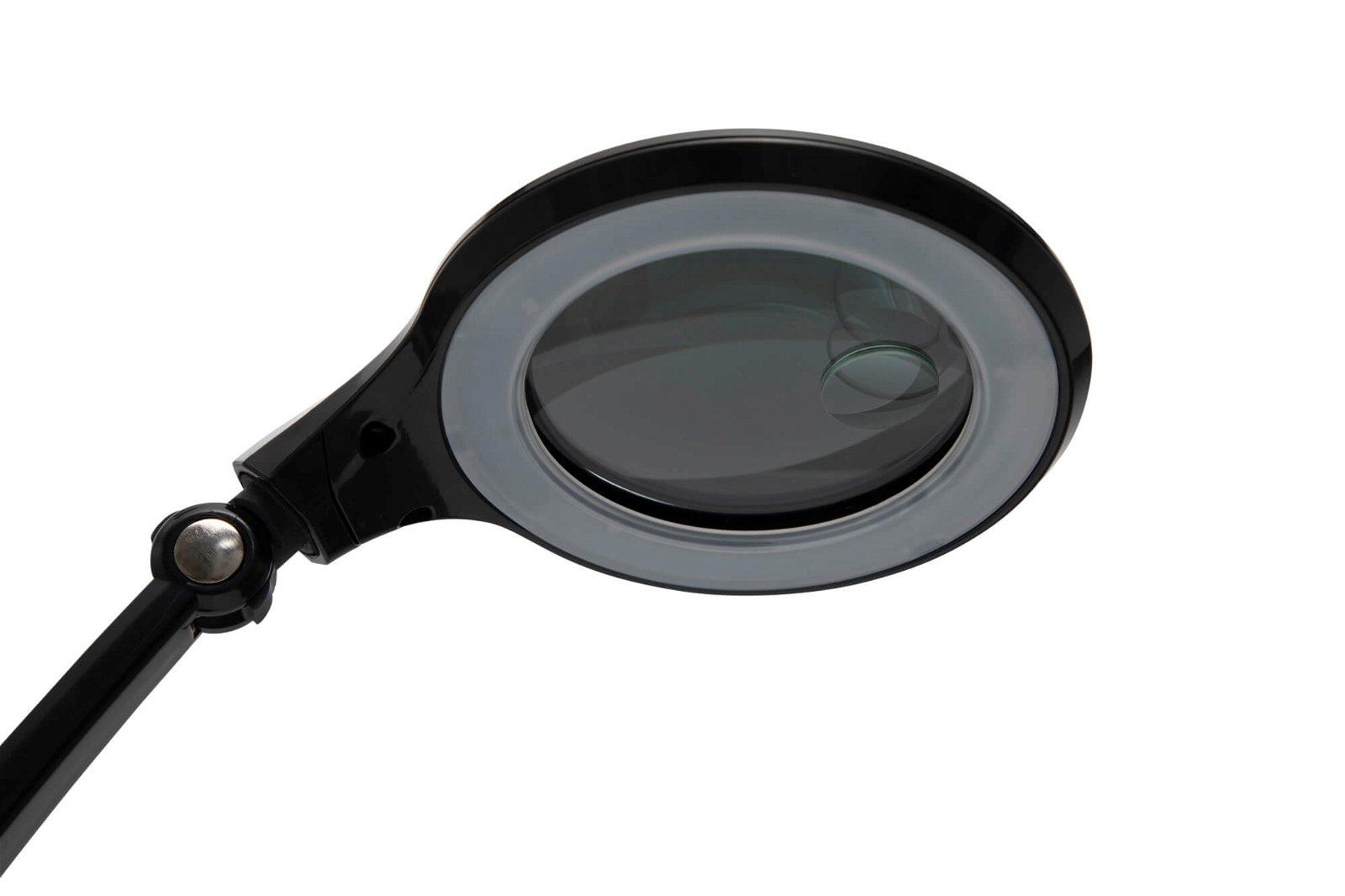 LED-Lupenleuchte MAULiris, schwarz, dimmbar