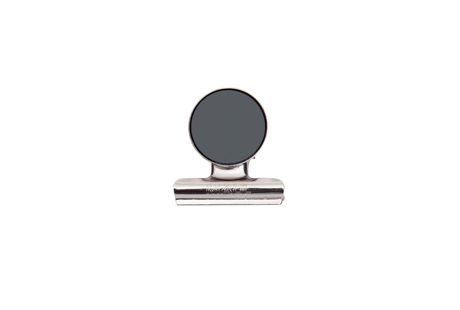 Brief-Klemmer mit Magnet, Breite 40 mm, 2 St./Set, hellsilber