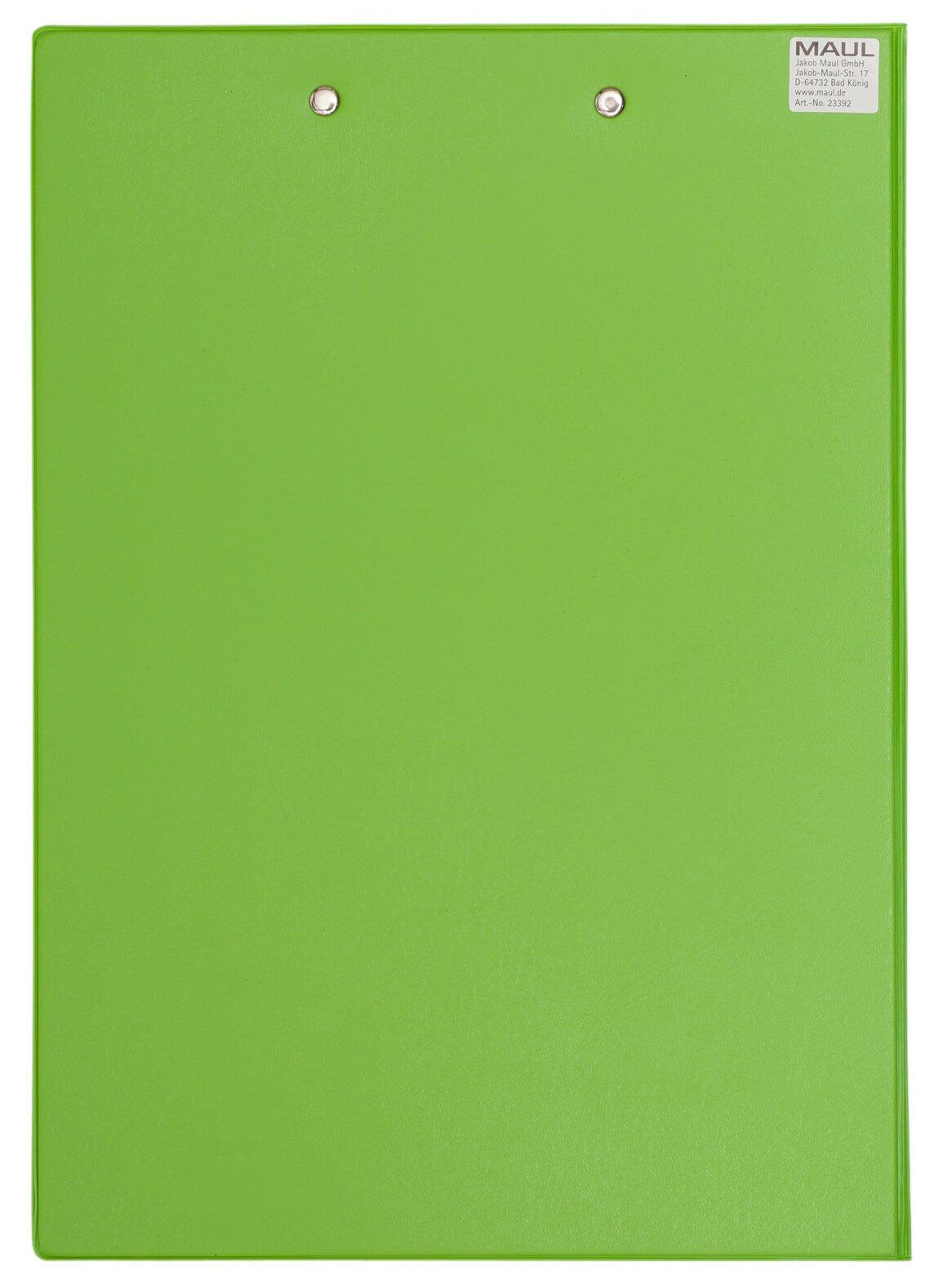 A4 Schreibmappe mit Folien- überzug, hellgrün
