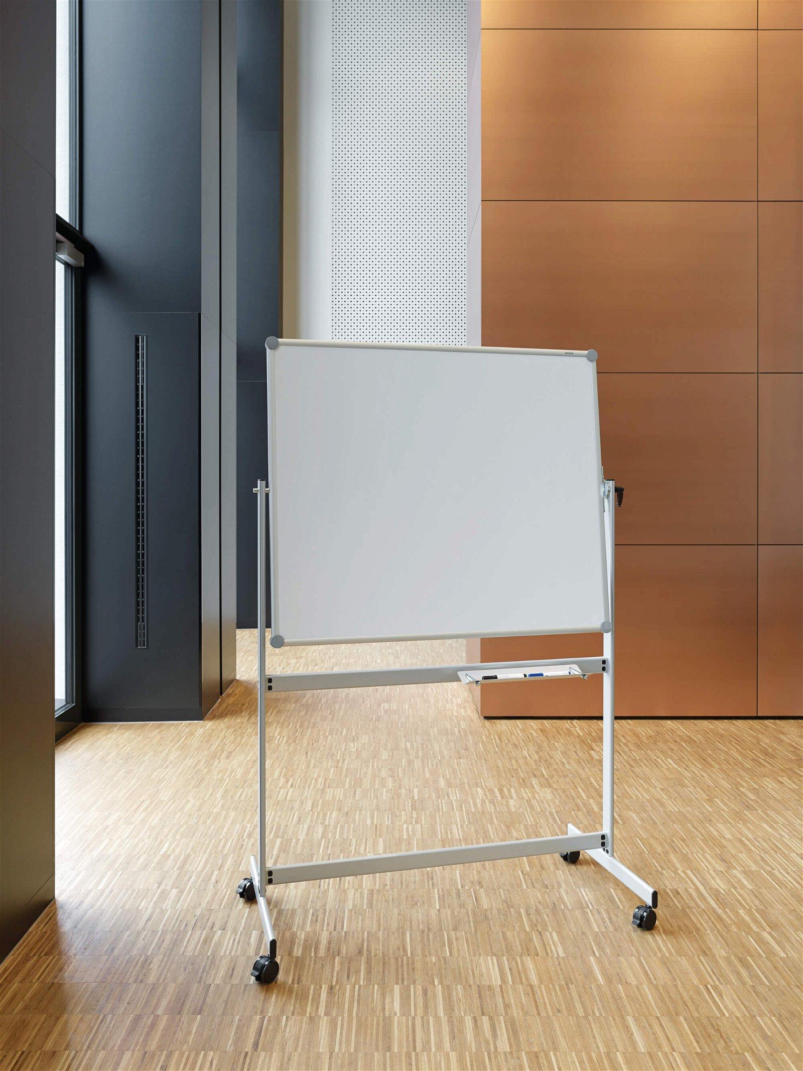 Mobiles Whiteboard MAULpro, drehbar, 100x120 cm, grau