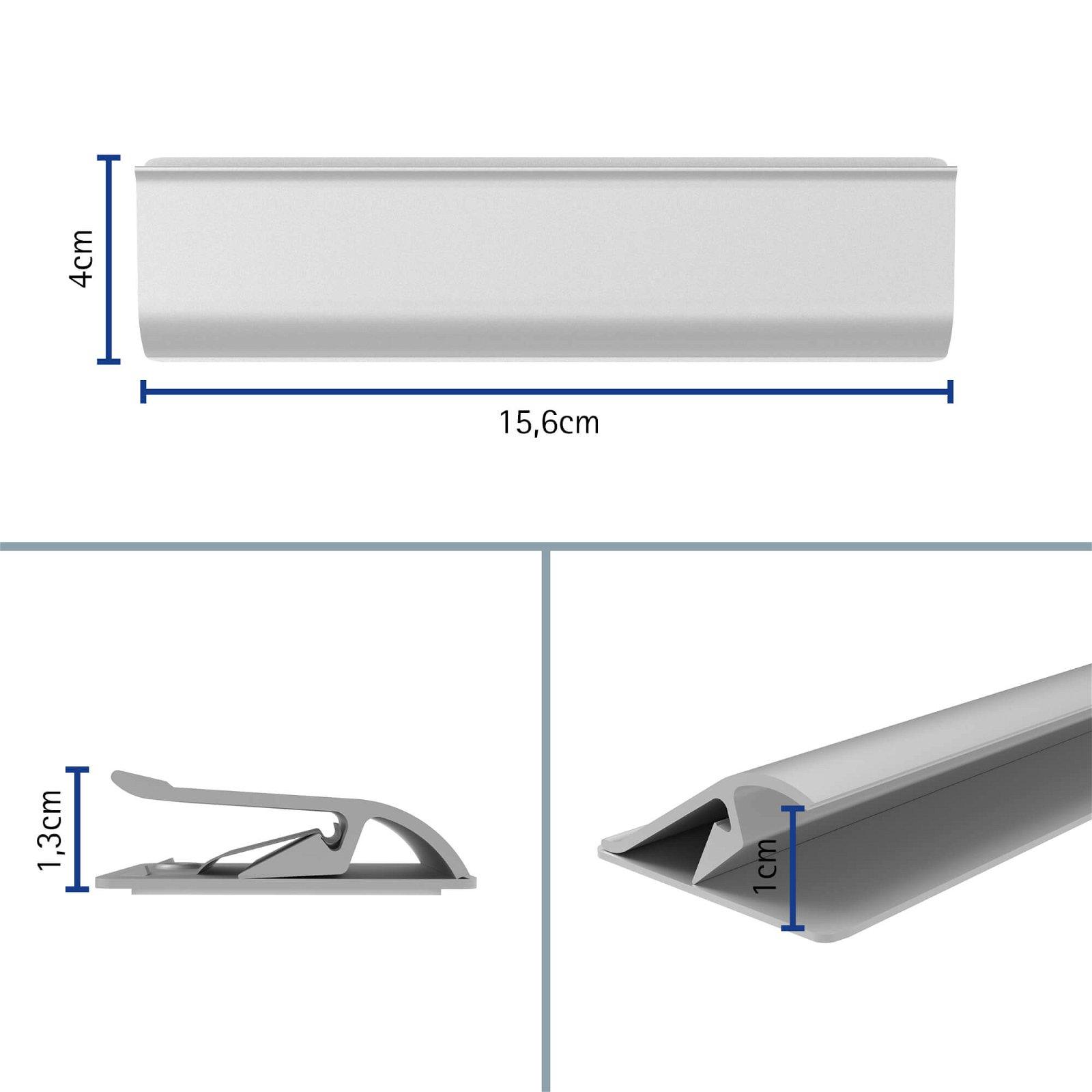 Klemmleiste Aluminium, Länge 15,6 cm, aluminium