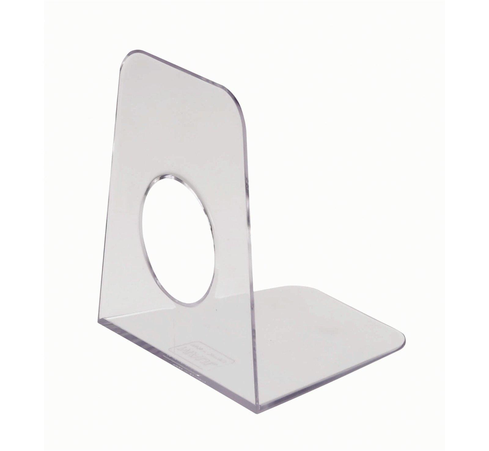Buchstützen aus Kunststoff, 9 x 10,5 x 12 cm, glasklar