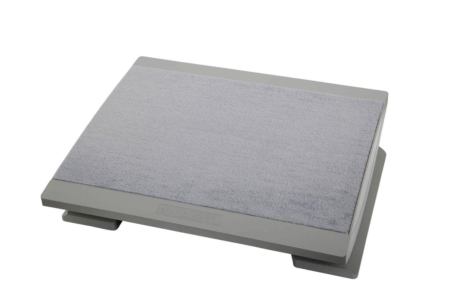 Ergonomische Fußstütze, komfortabel, grau