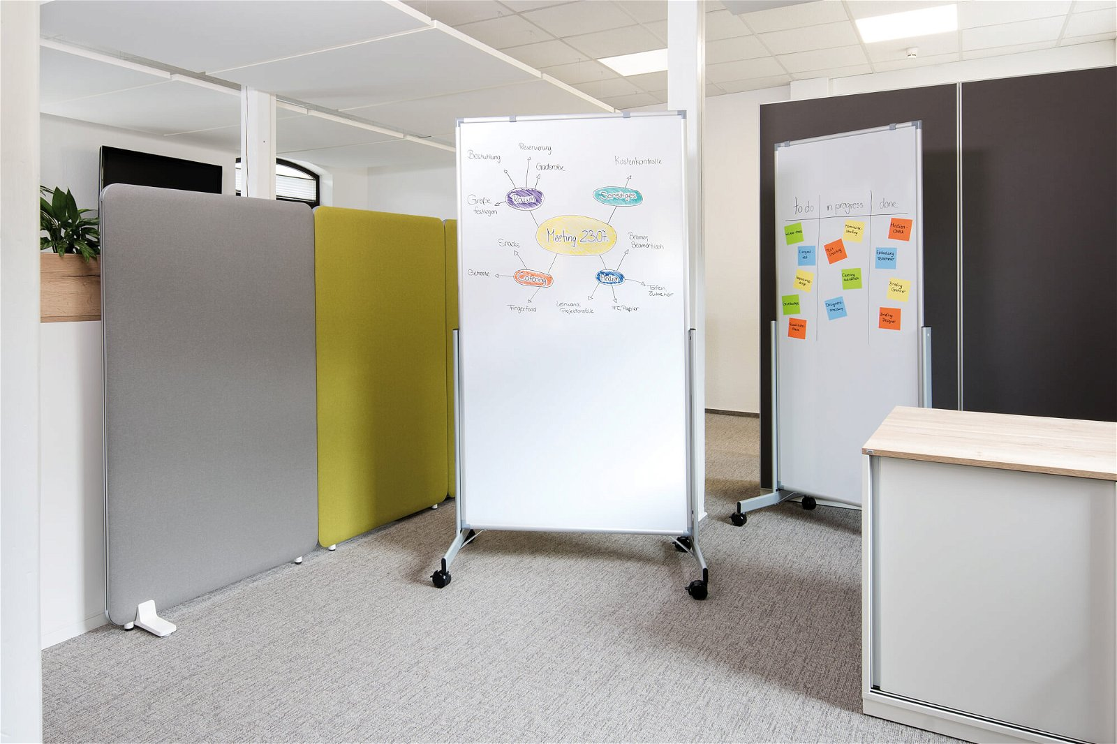 Whiteboard mobil MAULpro easy2move