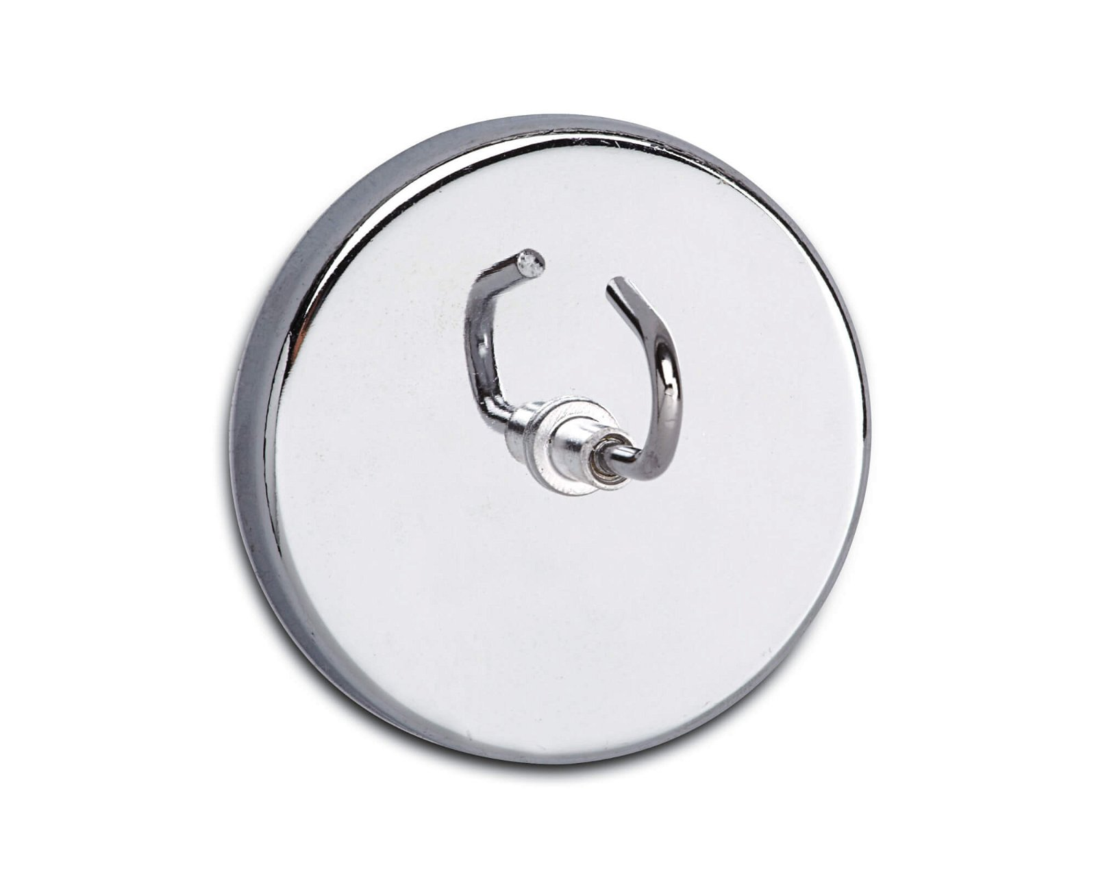 Magnet mit großem Haken Ø 52 mm, 9 kg Haftkraft, hellsilber