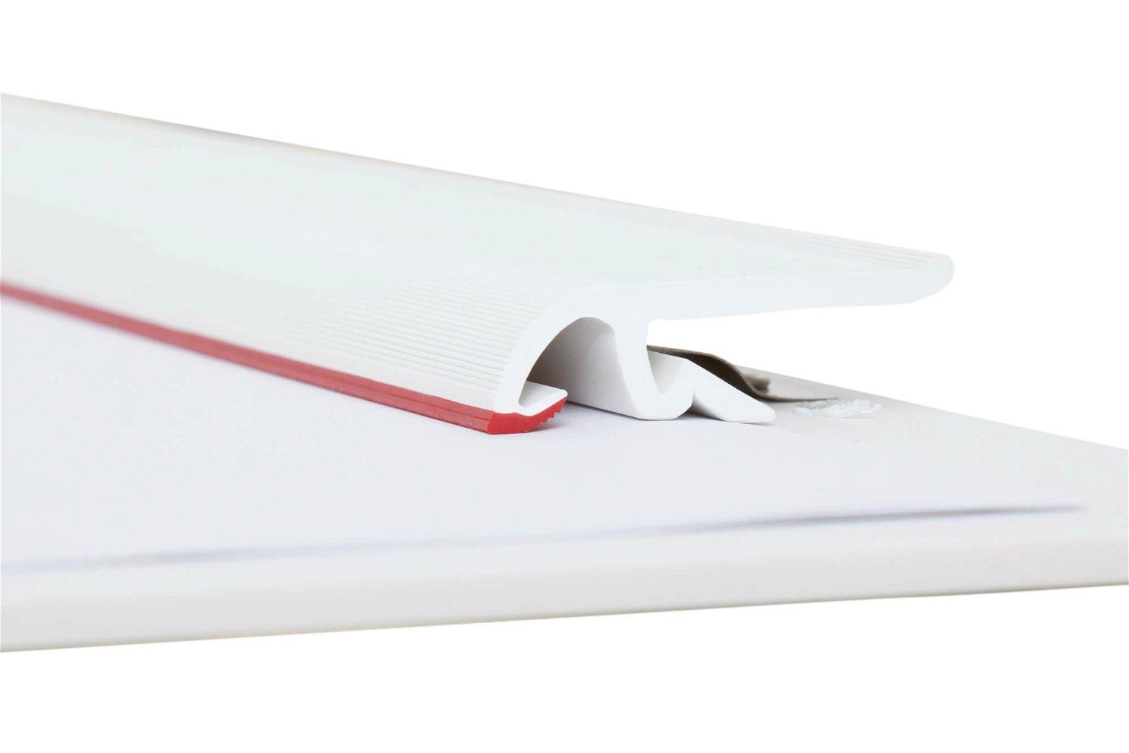 A3 Schreibplatte MAULpro Kunststoff Klemmer lange Seite, weiß