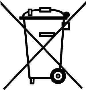 Batteriegesetz - durchgestrichene Mülltonne