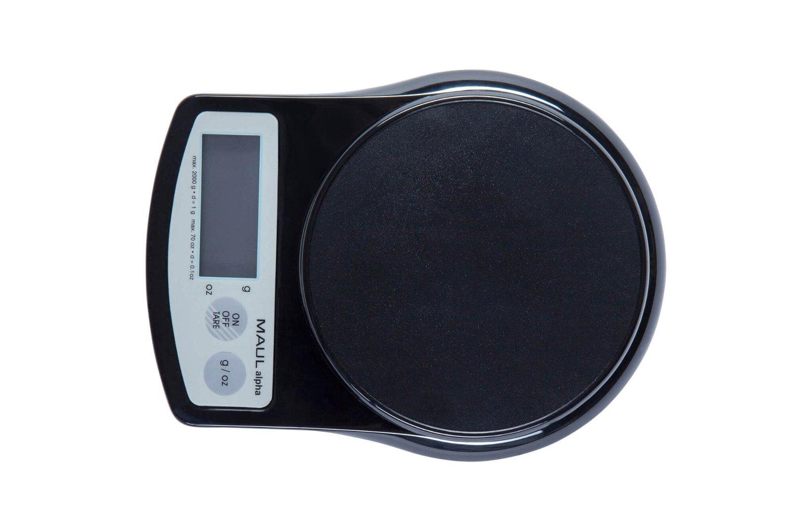 Briefwaage MAULalpha mit Batterie, 2000 g, schwarz