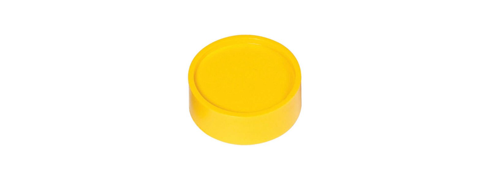 Rund-Magnet, PE Ø 34 mm, 2 kg Haftkraft, 10 St./Set, gelb