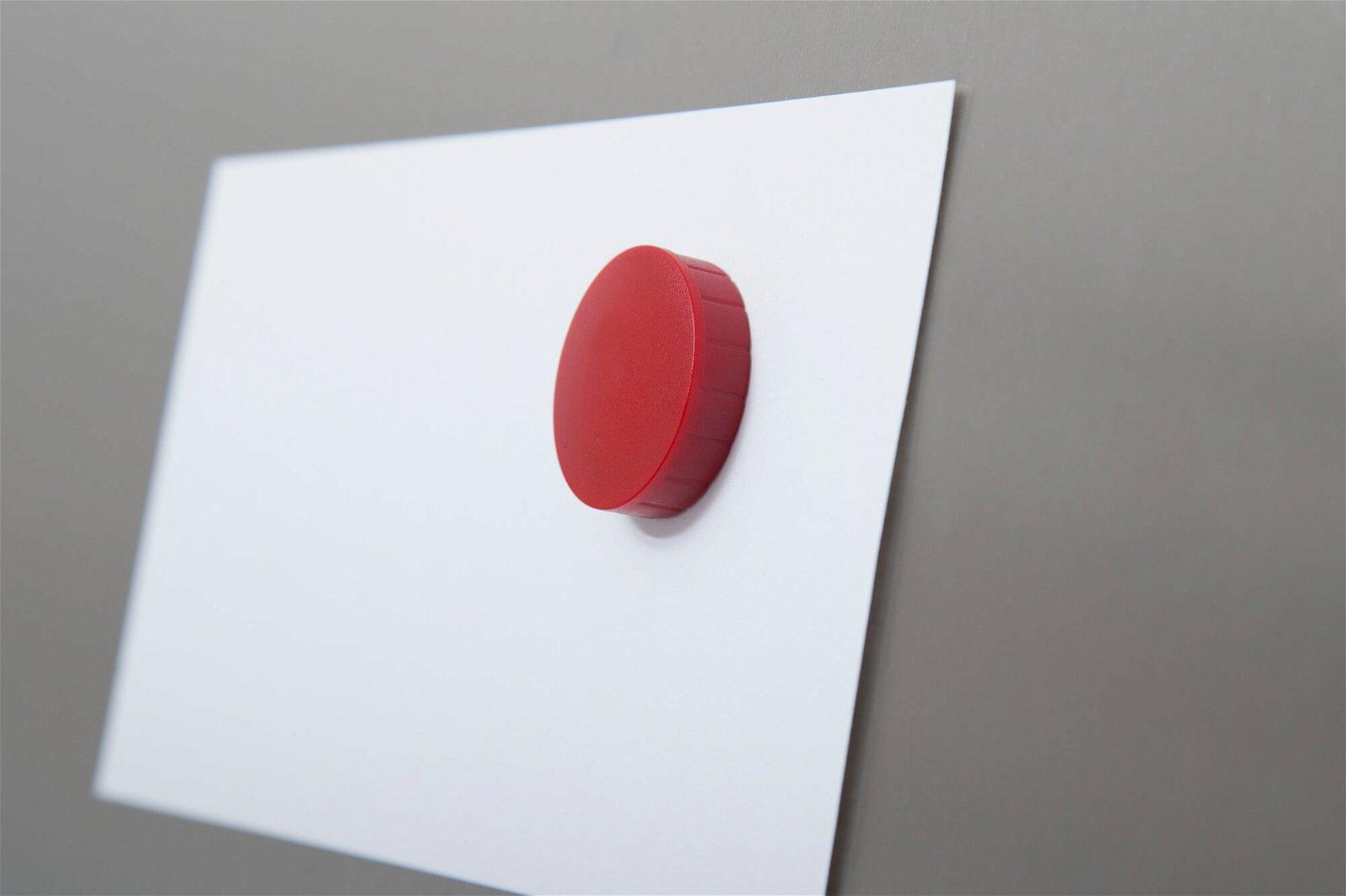 Magnet MAULsolid Ø 32 mm, 0,8 kg Haftkraft, 10 St./Ktn., rot