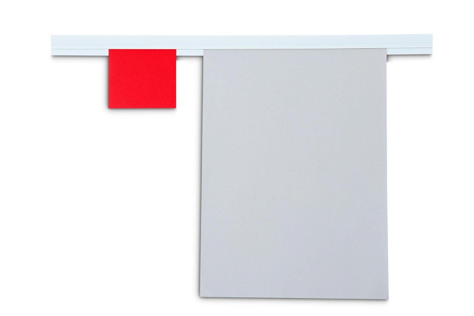 Wandklemmschiene selbst- klebend, Länge 50 cm, weiß