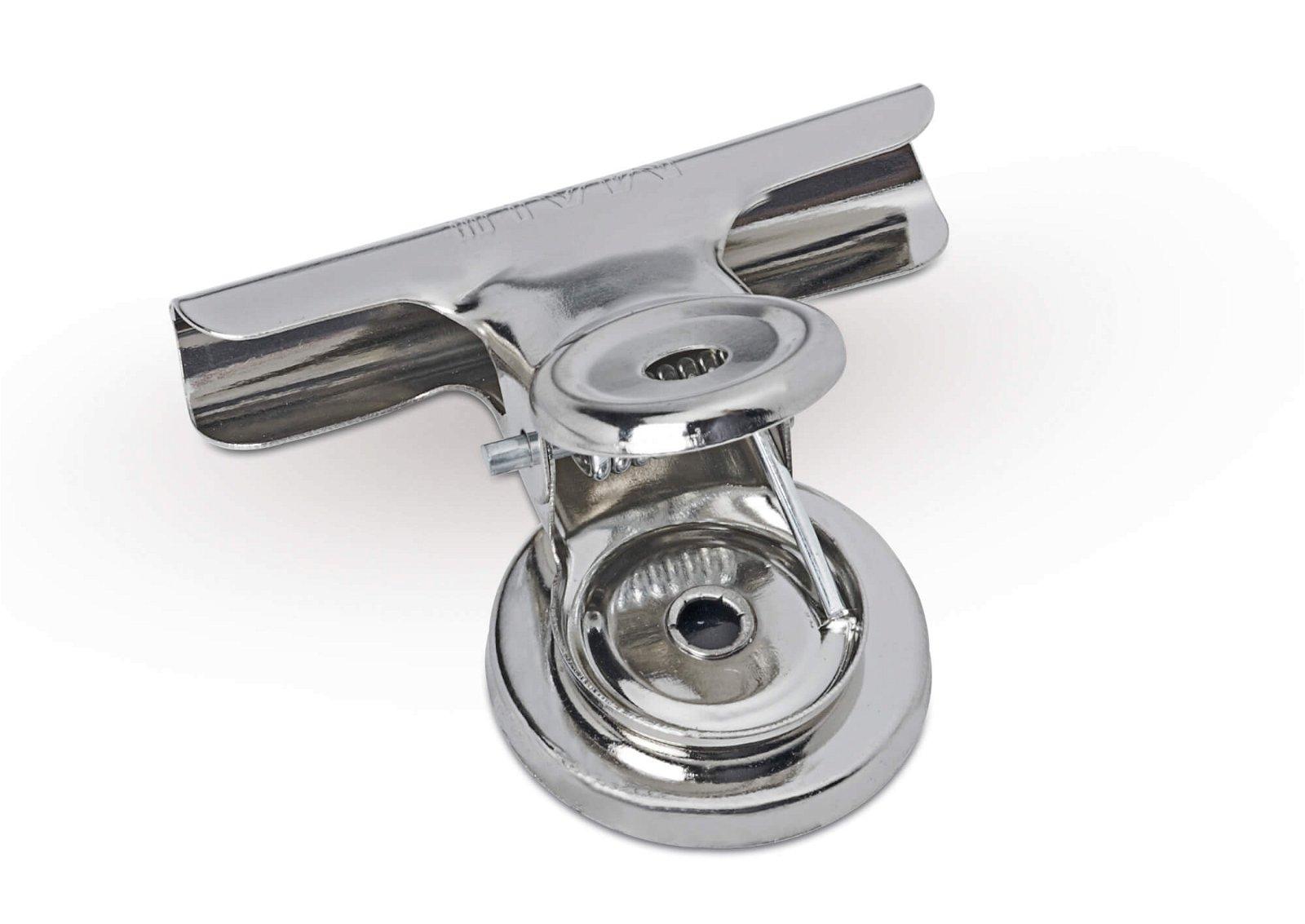 Brief-Klemmer mit Magnet, Breite 30 mm, 2 St./Set, hellsilber