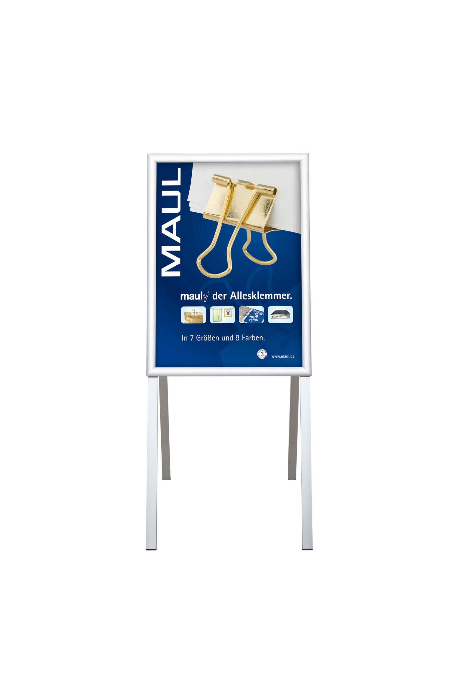 Kundenstopper MAULpublic, A2, aluminium