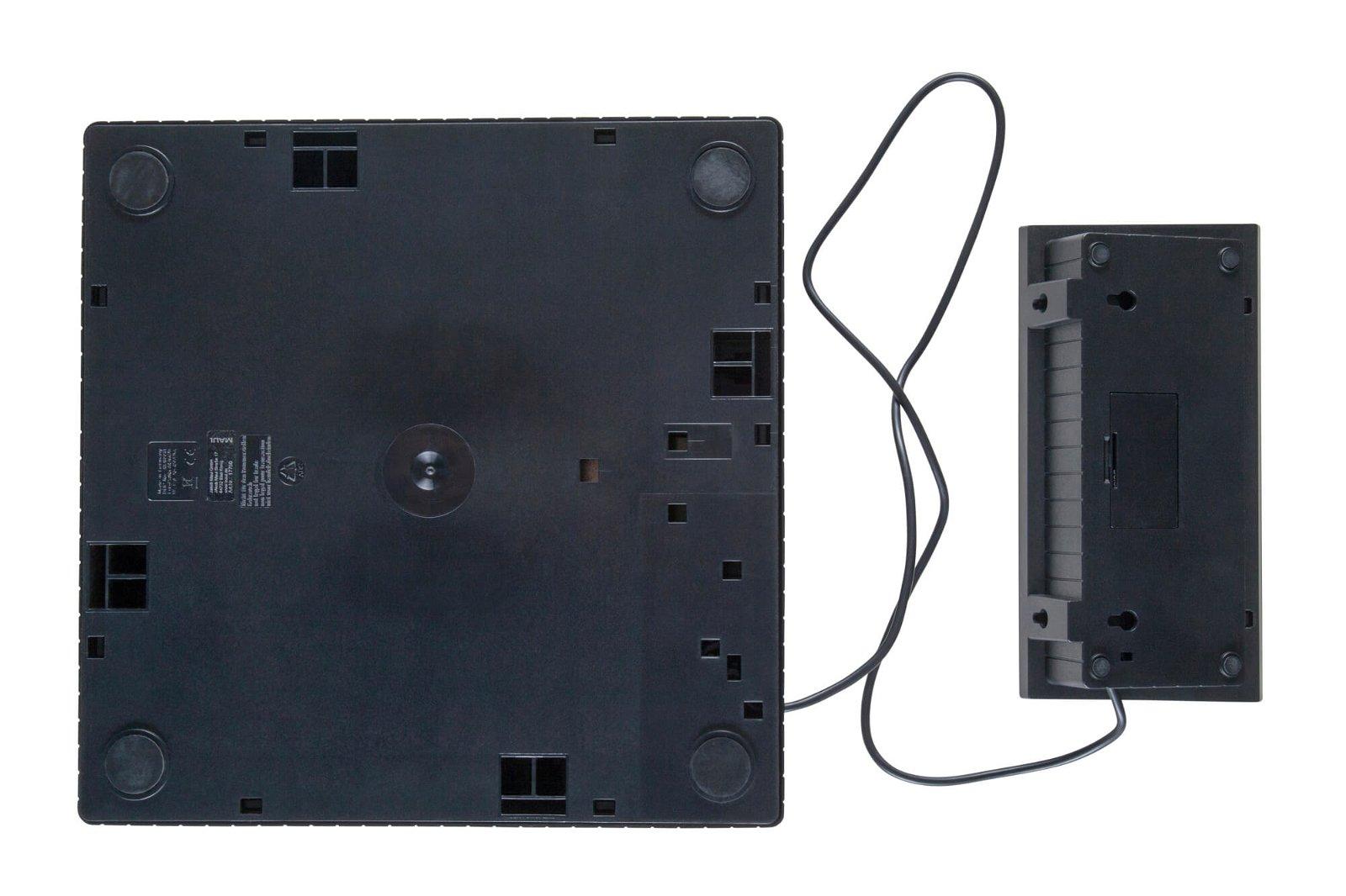 Paketwaage MAULparcel, 50 kg, Bedienpult, Edelstahlplatte, schwarz