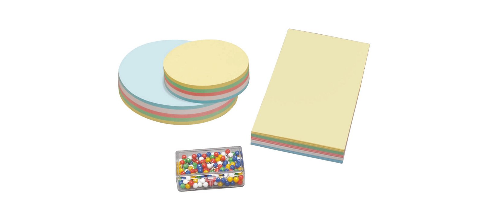 Moderationszubehör Set, farbig sortiert