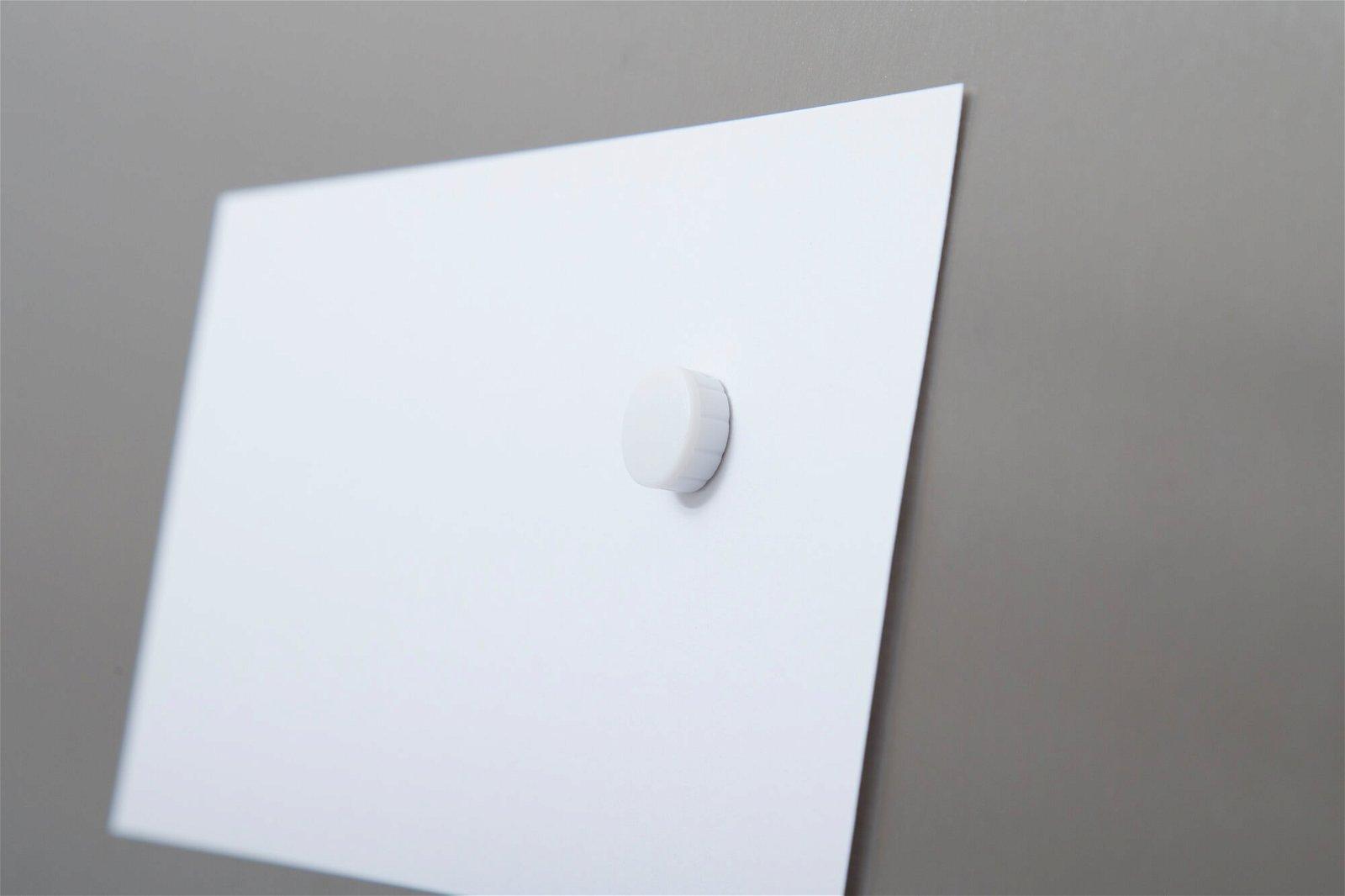 Magnet MAULsolid Ø 15 mm, 0,15 kg Haftkraft, 10 St/Ktn., weiß