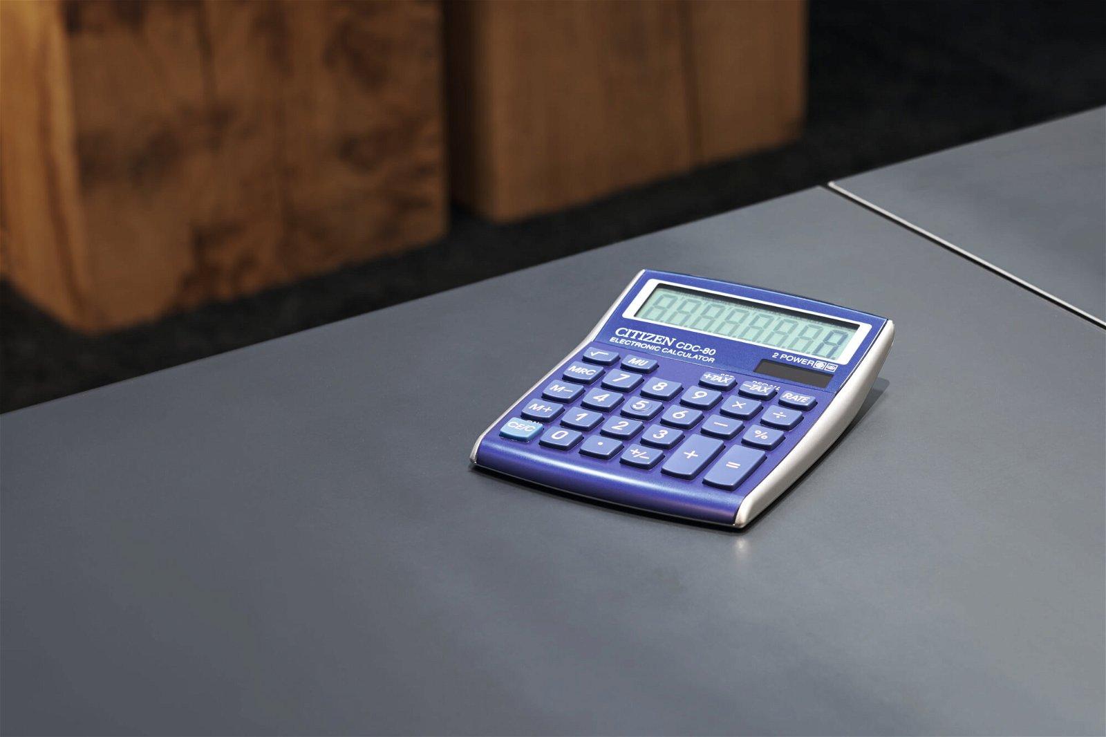 Tischrechner CDC 80LBWB, hellblau