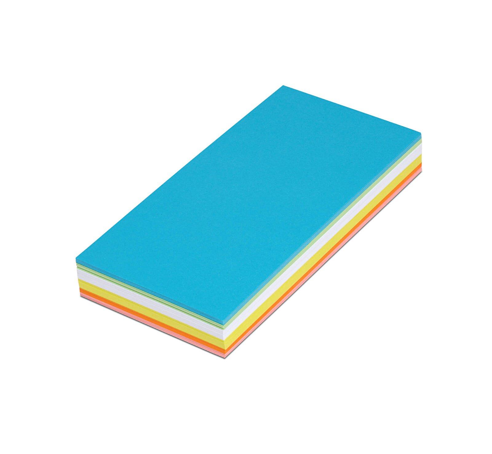 Moderationskarten rechteckig, 20,5 x 9,5 cm, 120 St./Pack, farbig sortiert