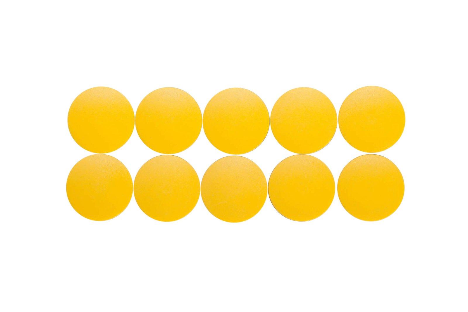 Magnet MAULsolid Ø 32 mm, 0,8 kg Haftkraft, 10 St./Ktn., gelb