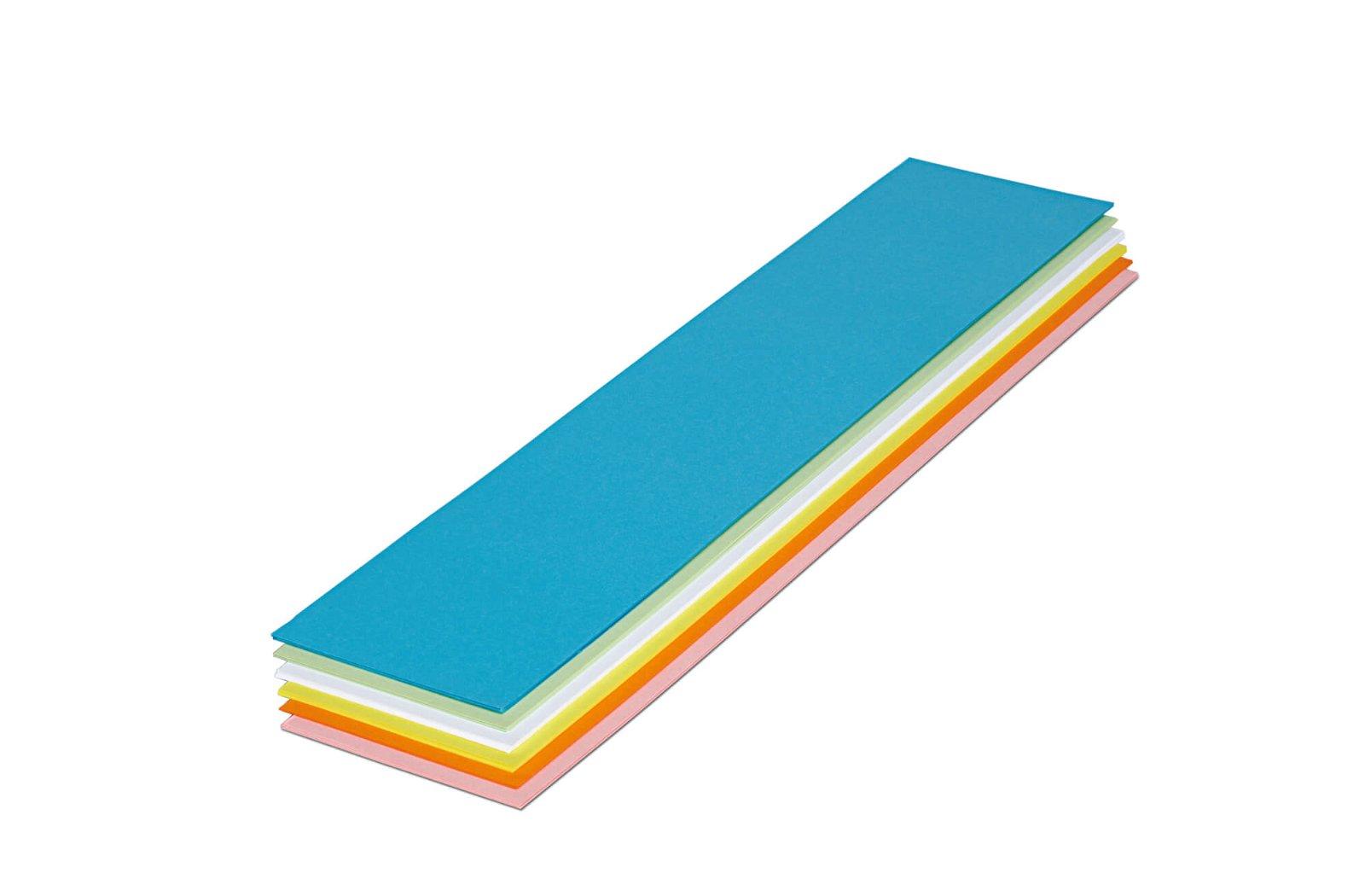 Überschriftenstreifen, 9,5 x 42,5 cm, 50 St./Pack, farbig sortiert