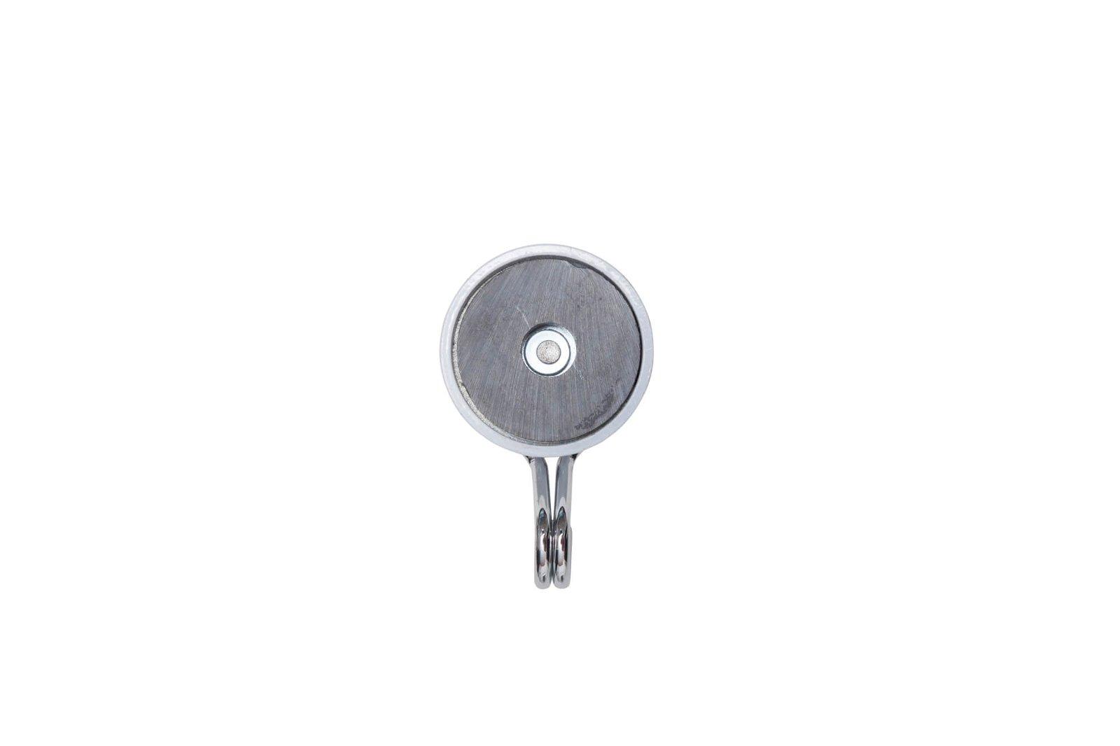 Magnet Karussell-Haken Ø 35 mm, 5 kg Haftkraft, 2 St./Set, weiß