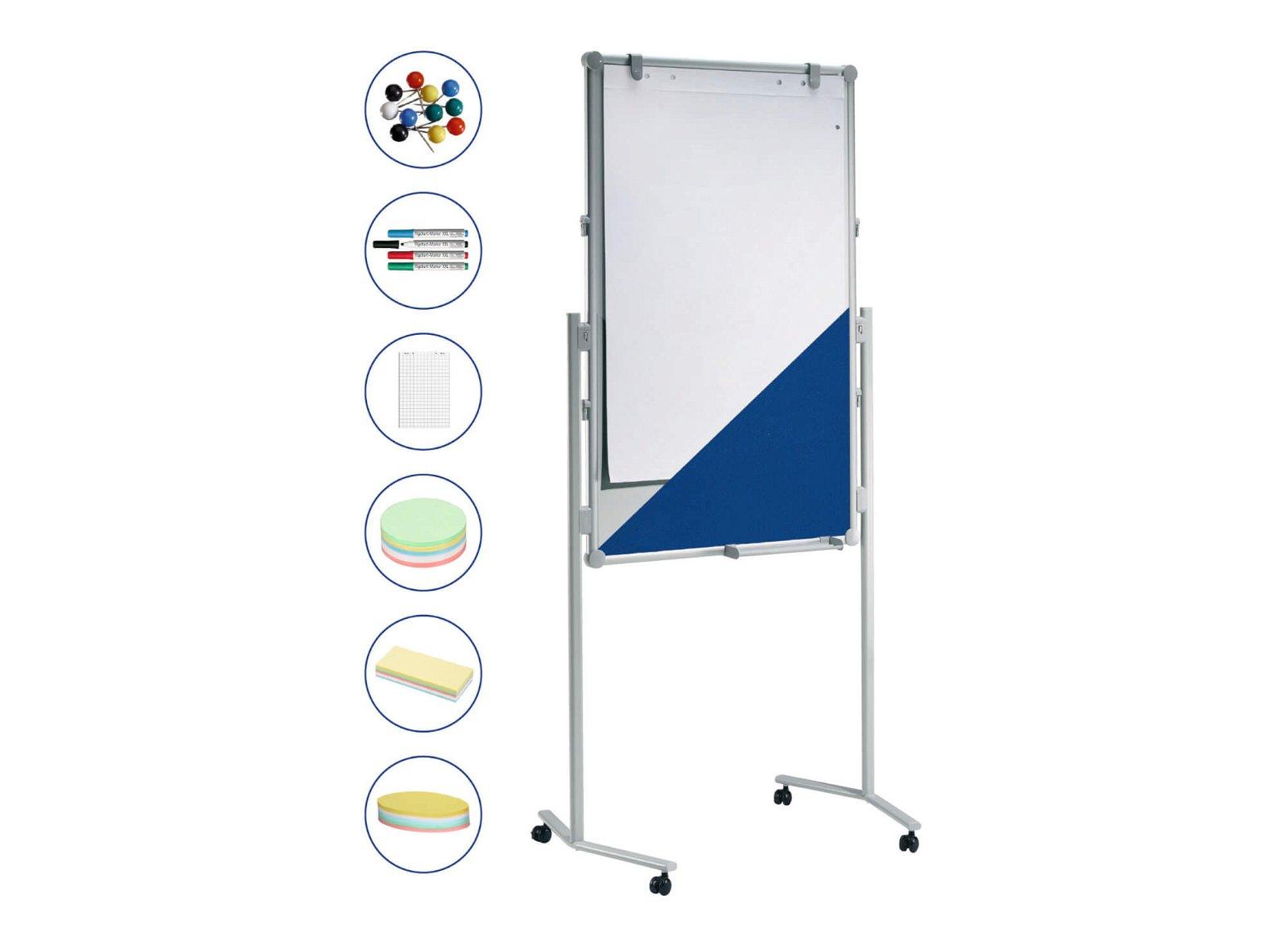 Moderationstafel MAULpro Textil/WB Set, 120x75 cm, grau
