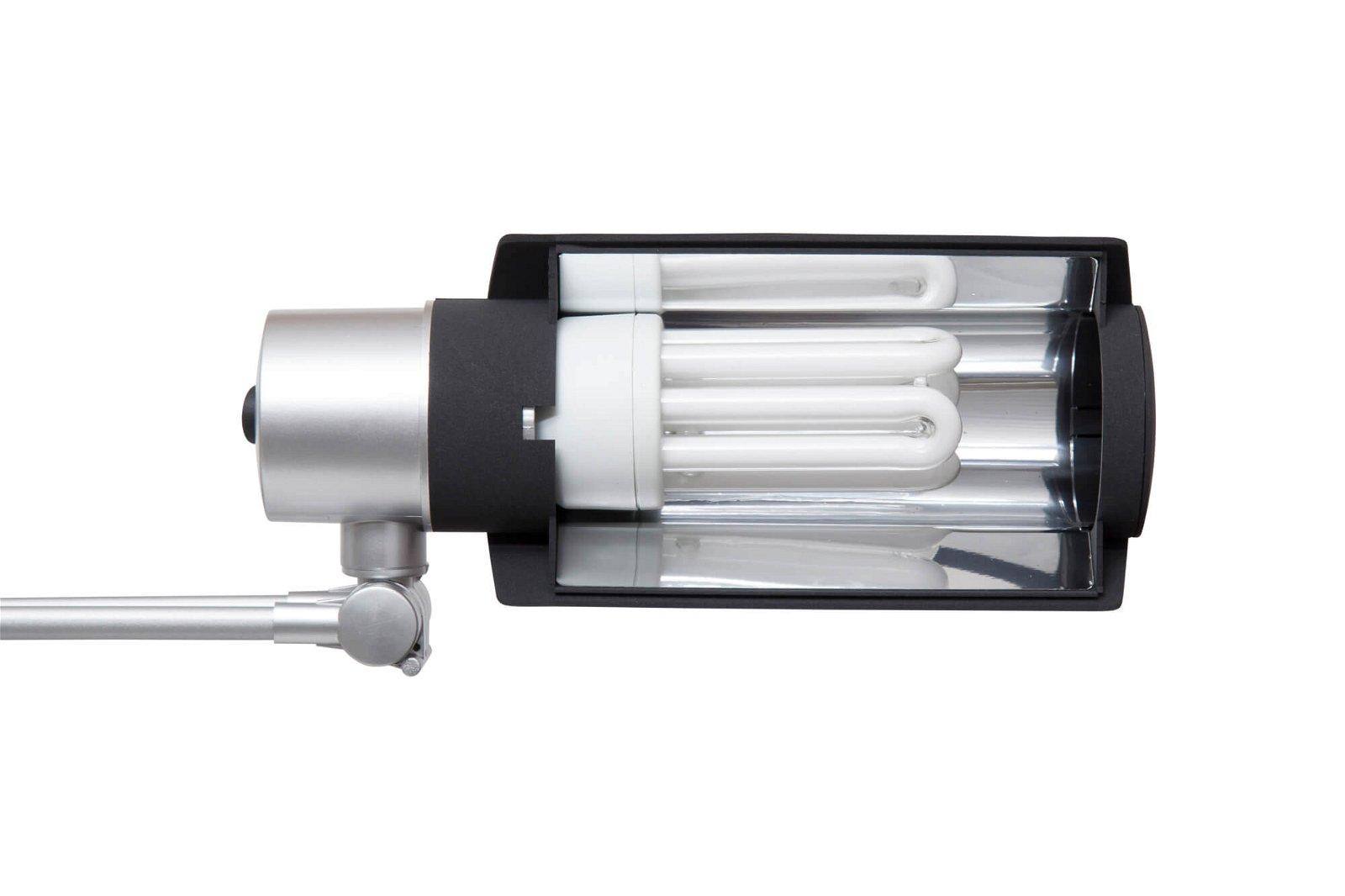 Energiespar-Tischleuchte MAULoffice, silber