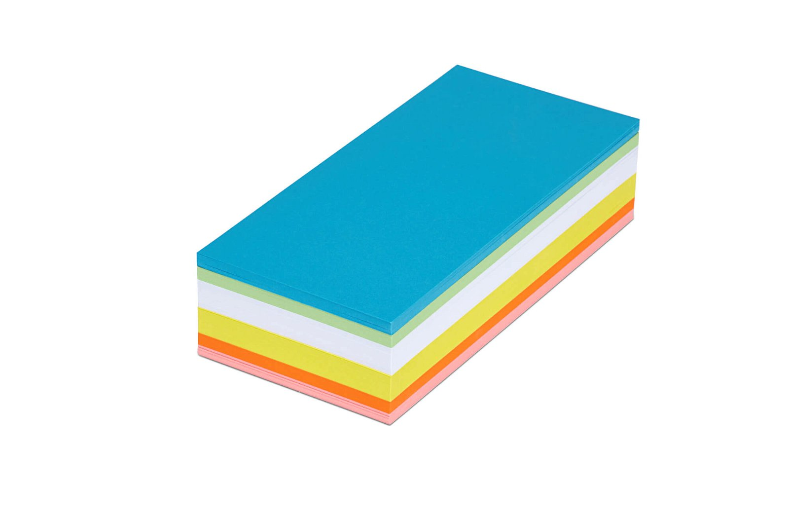 Moderationskarten rechteckig, 20,5 x 9,5 cm, 250 St./Pack, farbig sortiert
