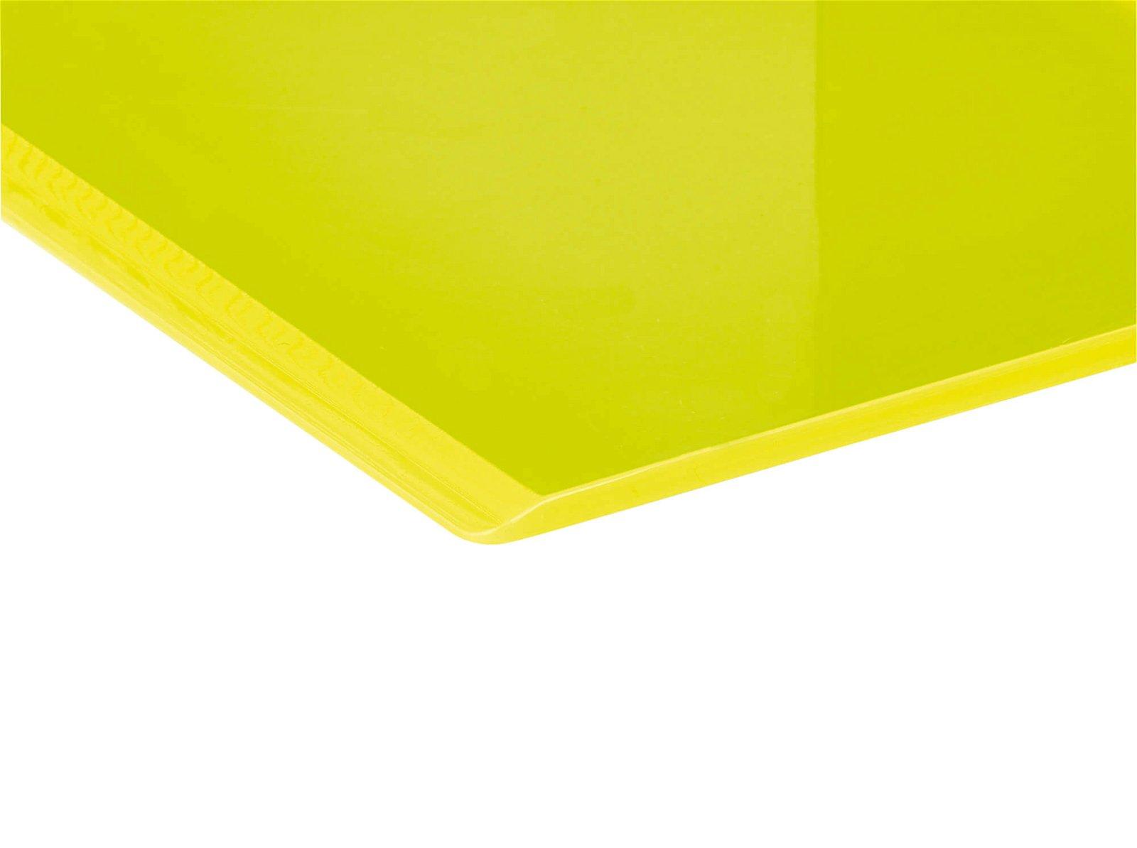 Buchstützen aus Acryl, Neon, gelb