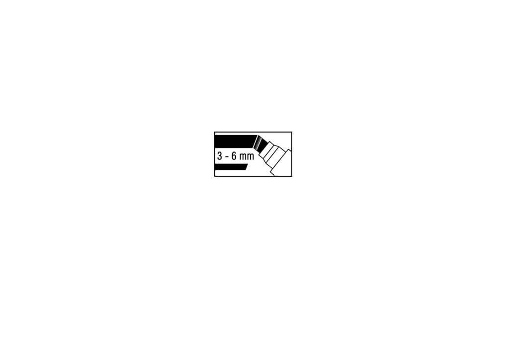 Flipchart-Marker-Set XXL, Keilspitze, 4 St./Set, farbig sortiert