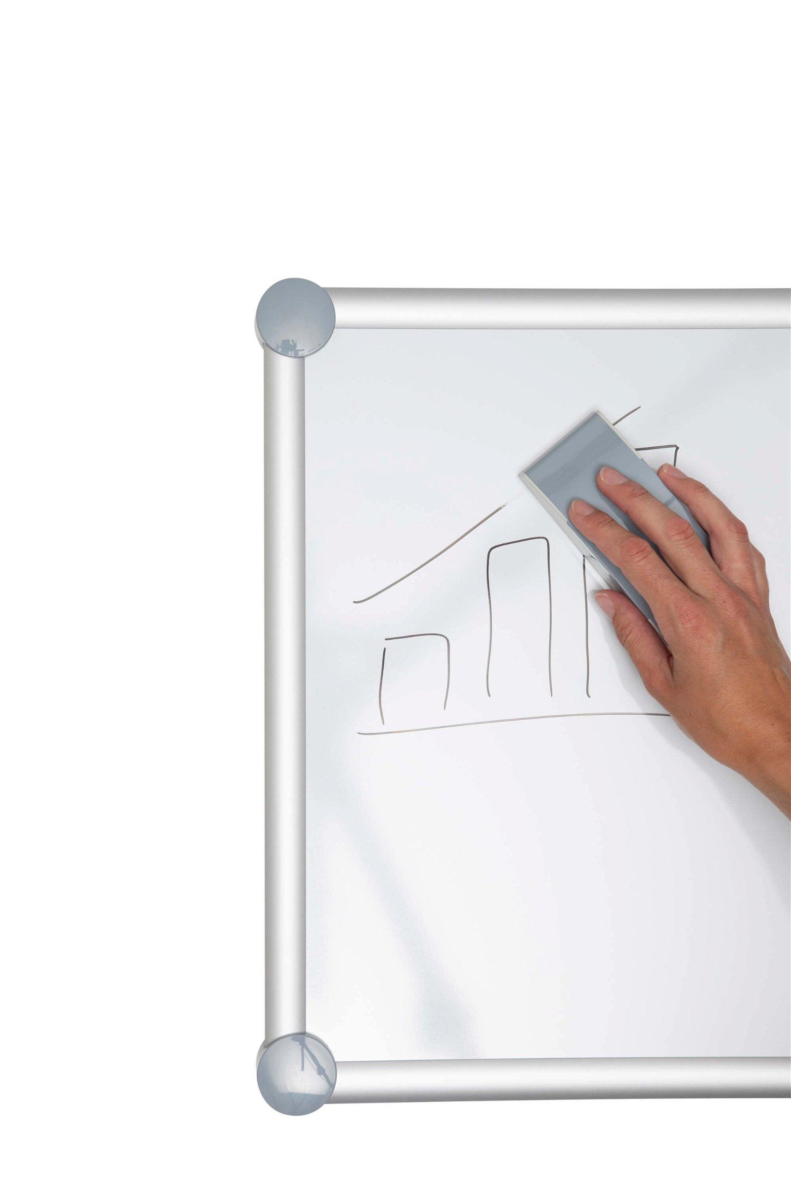 Tafelwischer mit Vlies-Spann- einrichtung, grau