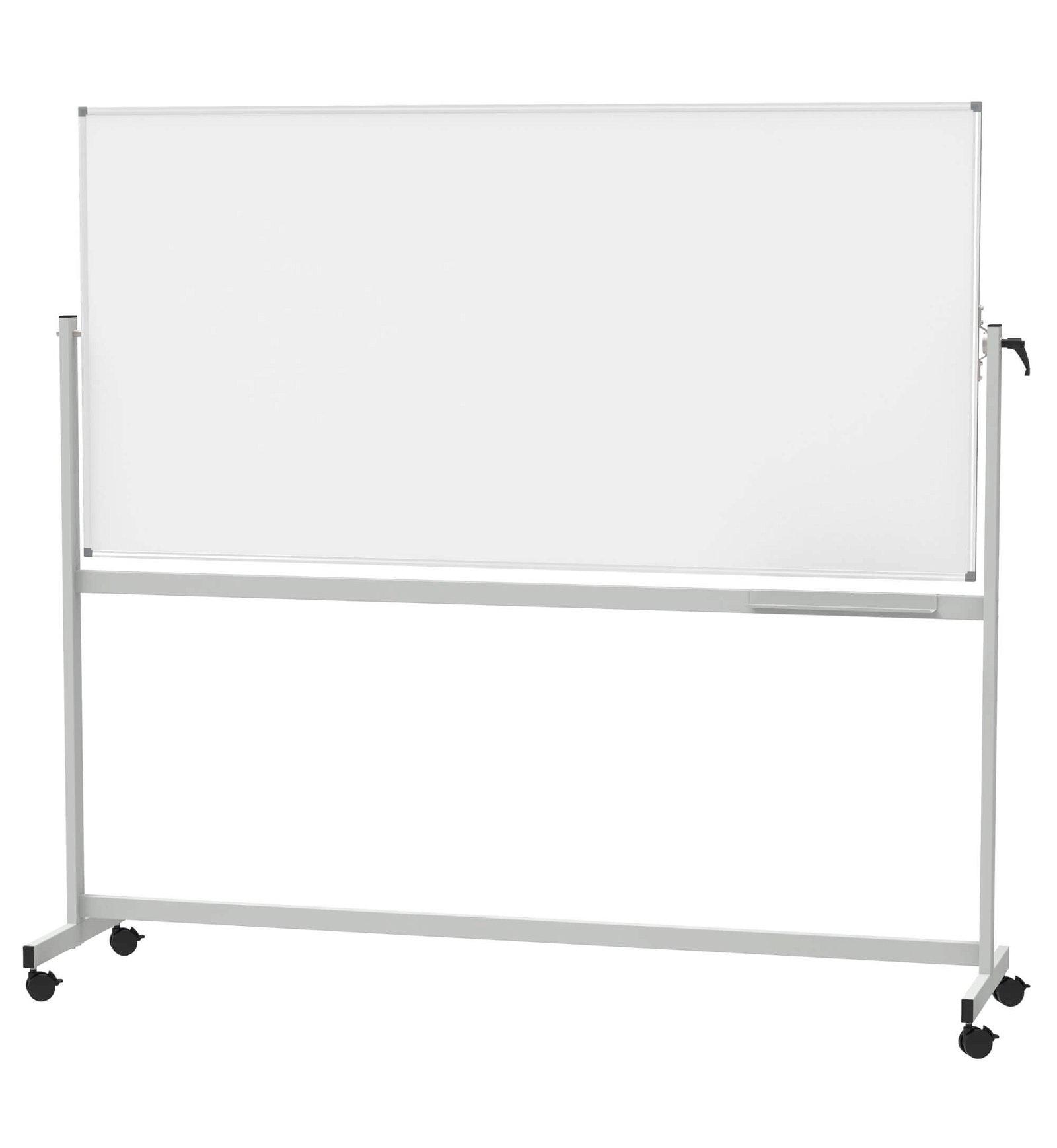 Mobiles Whiteboard, MAUL- standard, drehbar, 100x200 cm, grau
