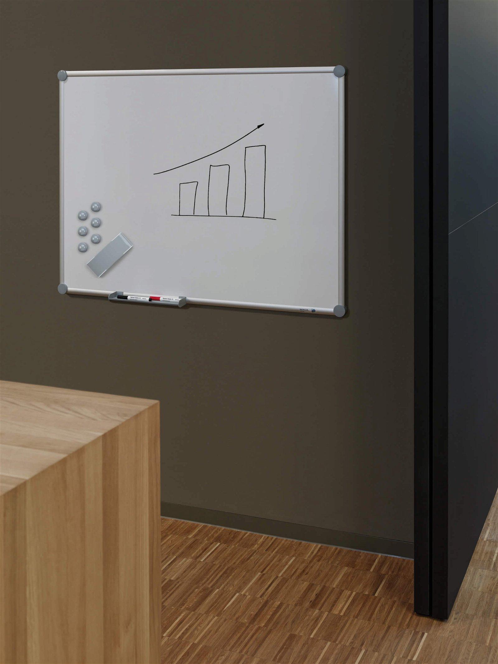 Whiteboard 2000 MAULpro, 60x90 cm, grau