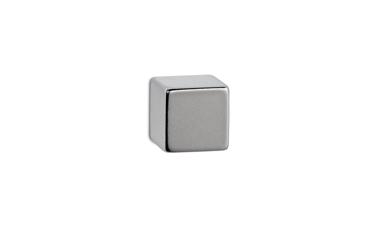 Neodym-Würfelmagnet, 15x15x15 mm, 15 kg Haftkraft, hellsilber