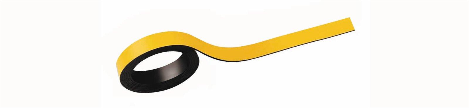 Magnetstreifen, 1x100 cm, 2 St./Set, gelb