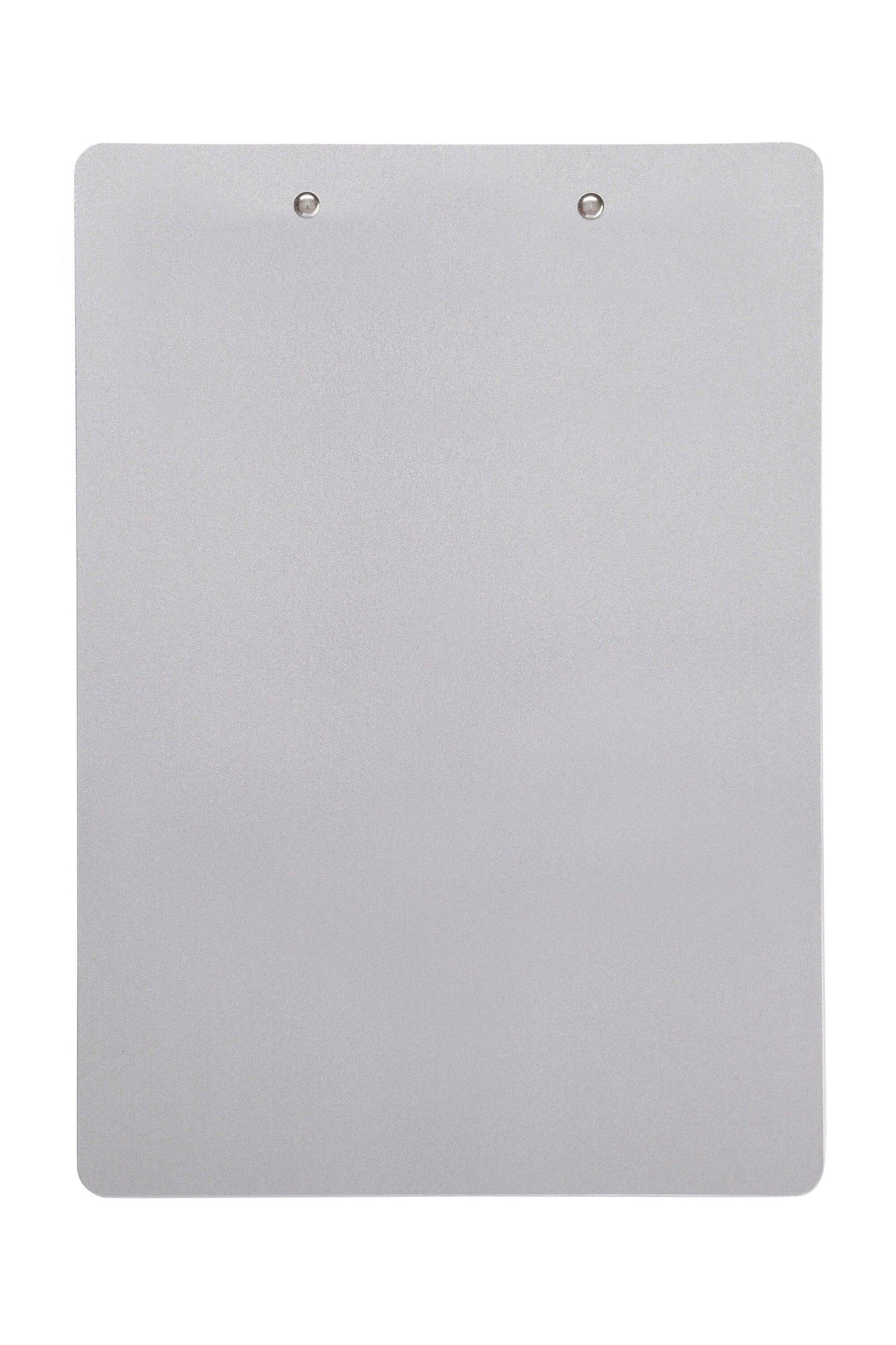 Schreibplatte, Aluminium mit Bügelklemme