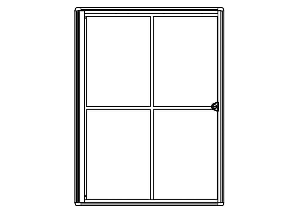 Schaukasten MAULextraslim, 4 x A4, aluminium