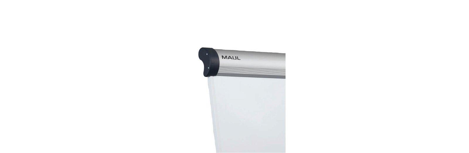 Flipchart MAULsolid, Rundfuß mit 2 Papierhaltern, grau