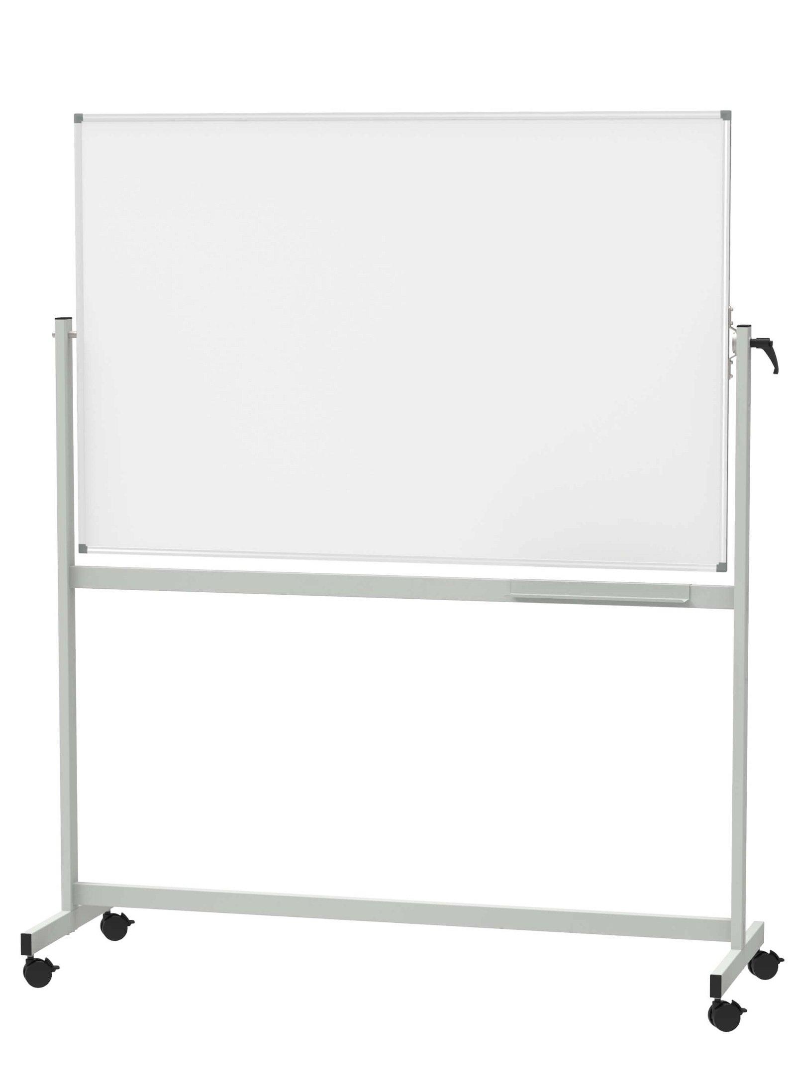 Mobiles Whiteboard, MAUL- standard, drehbar, 100x150 cm, grau